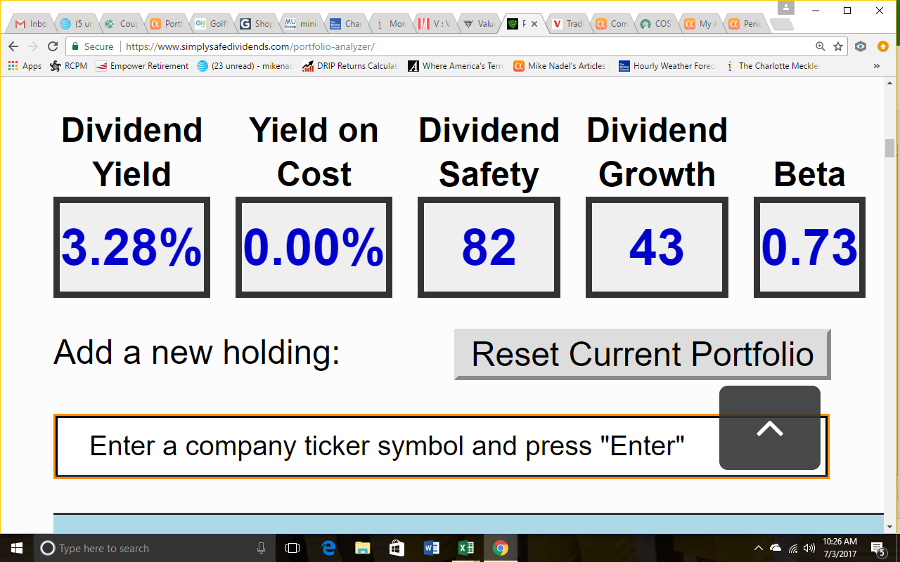 How safe are my dividends seeking alpha it had been a while since i calculated my yield so it was nice to see that it remains comfortably over 3 i have worked hard to build a portfolio of biocorpaavc