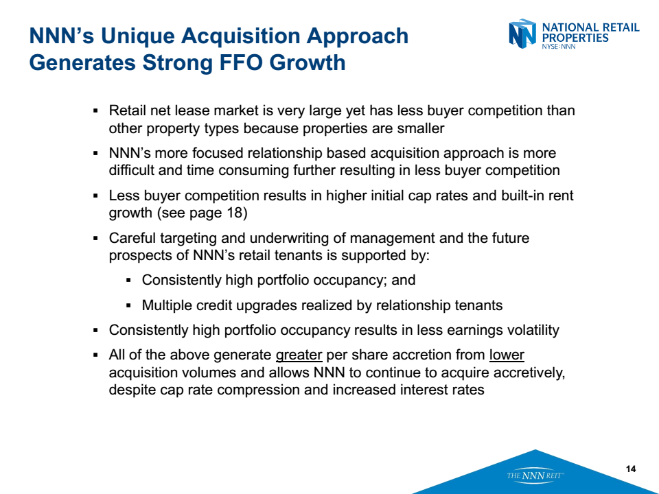 National Retail Properties (NYSE:NNN) Updates FY17 Earnings Guidance