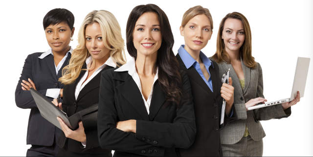 Image of women corporate execs via James Thompson's blog.