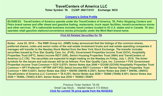 Travelcenters Of America A View From The Perspective Of A Preferred
