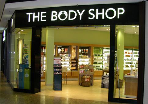 The Body Shop store front