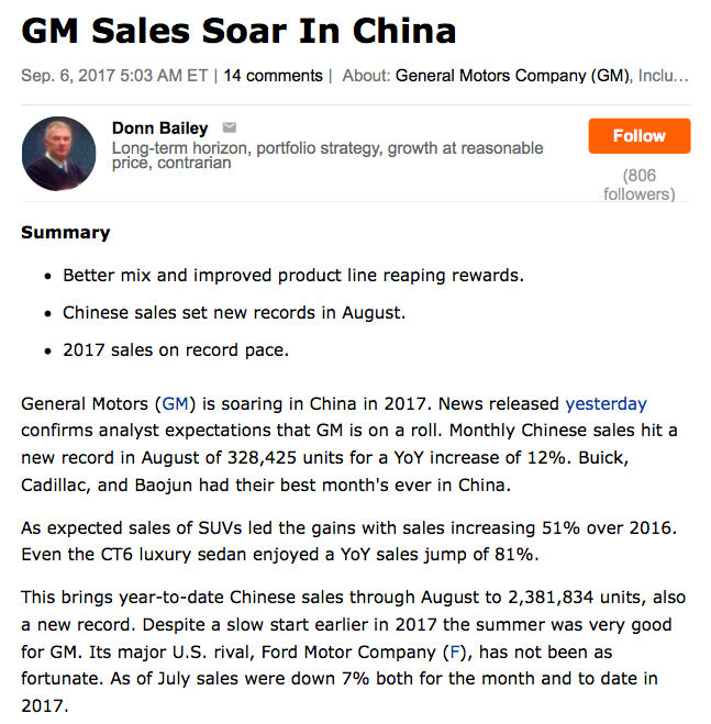 General Motors Company Divide And Prosper General Motors Company