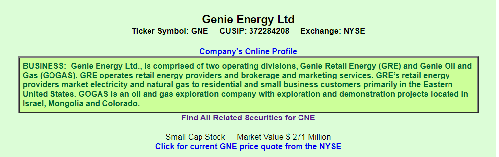 Genie Energy From The Perspective Of A Preferred Investor Genie