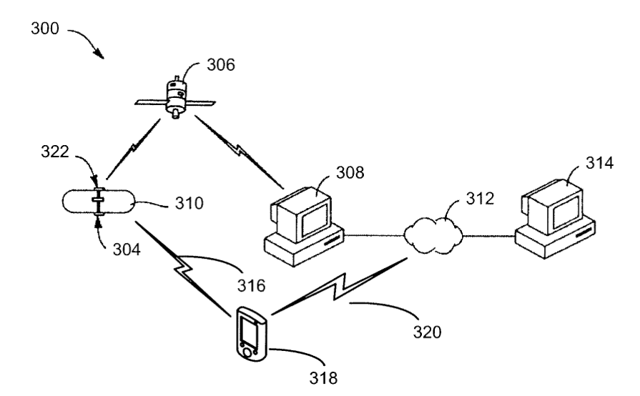 Xact Monitoring System (patent schematic)