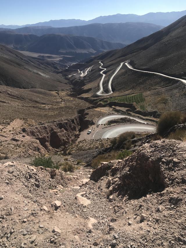 (2017 Argentina Lithium Tour - View heading into the Lithium Triangle)