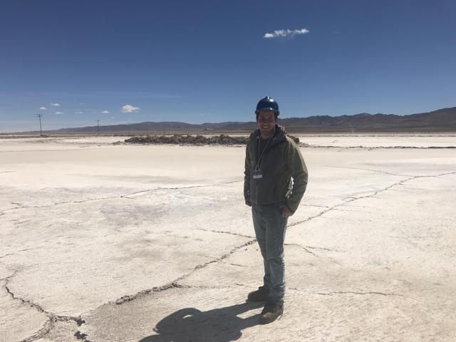 (Argentina Lithium Tour 2017) Posing for a photo at the Olaroz basin