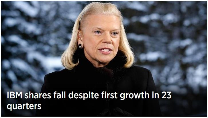 IBM (finally) raises revenue after nearly 6 years