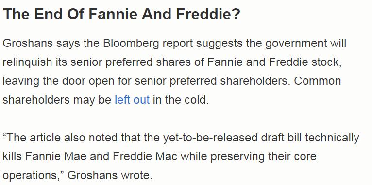 Fannie And Freddie Legislation Sounds Intractable Fannie Mae