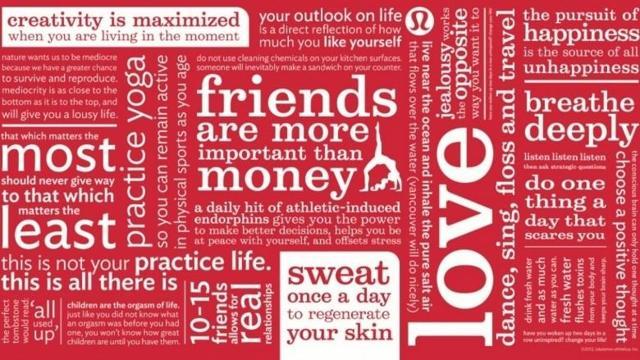 Image result for lululemon manifesto
