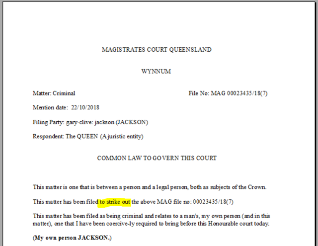 As Filed at the court Registry
