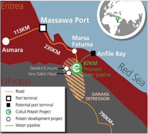 Potash projects Ethiopia Erithrea
