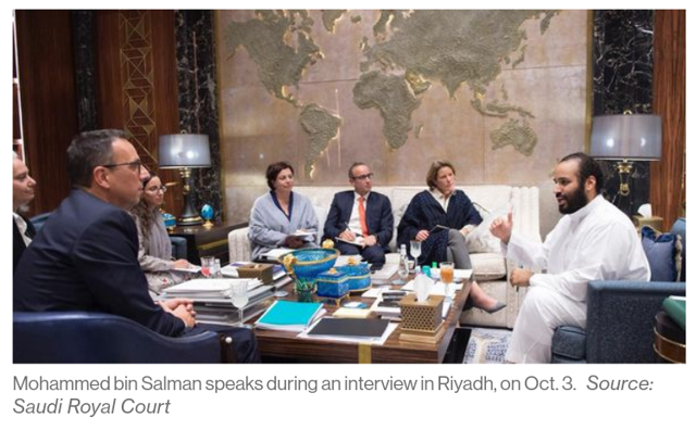 MBS Interview with Bloomberg taken by the Saudi Royal Court