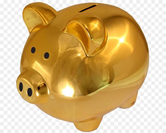 From the Money Saving Piggy Bank Gold - Pig Piggy Gold