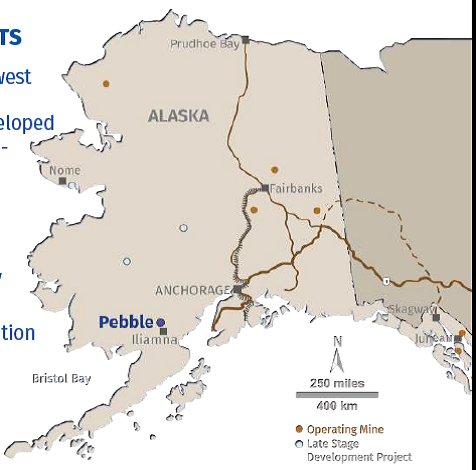 Pebble Mine Alaska Map