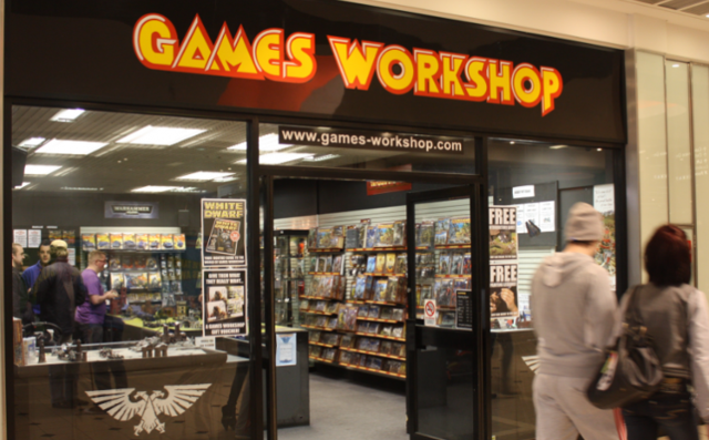 A Games Workshop retail store.