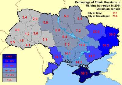 Image result for ethnic russians per zone ukraine