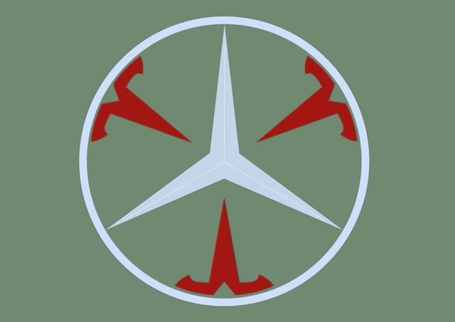 Combined Tesla / Mercedes Logo