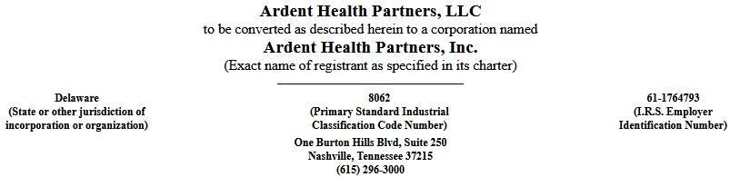 Ardent health partners llc ipo
