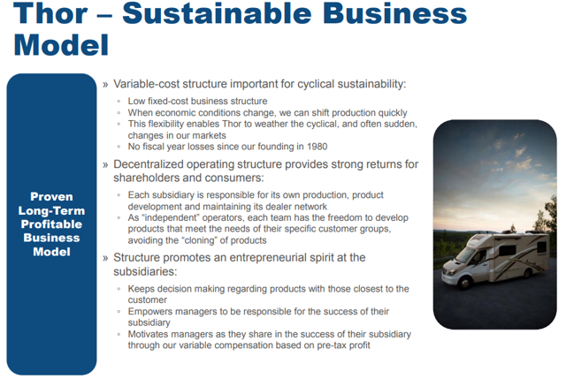 Thor Industries sustainable business model