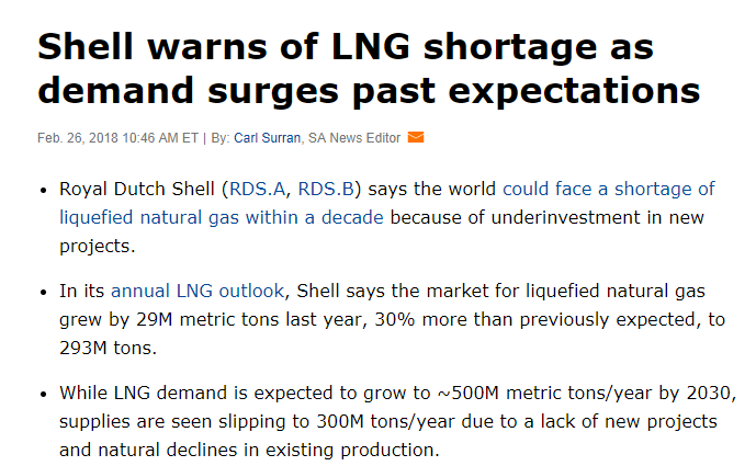 Shell: LNG Supply Shortage Possible as Demand Surges