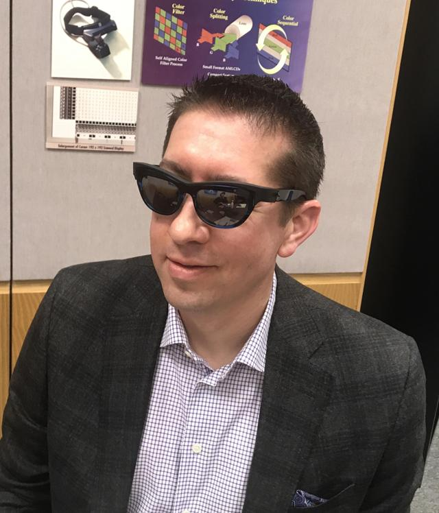 Derrick Tries Pupil Prototype