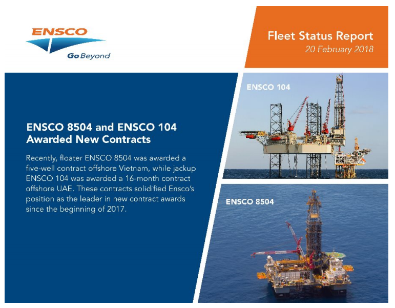 Ensco 8504 May Not Start Its Work In Vietnam - Valaris plc (NYSE:VAL