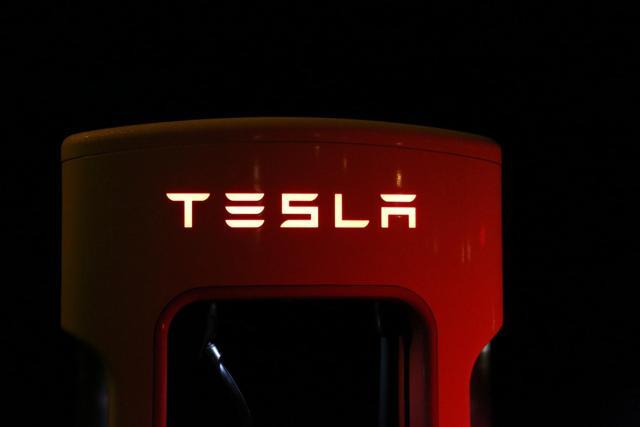 Tesla Logo on Supercharger