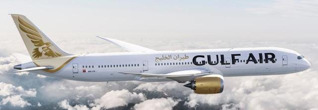 Illustration of Gulf Air Boeing 787-9