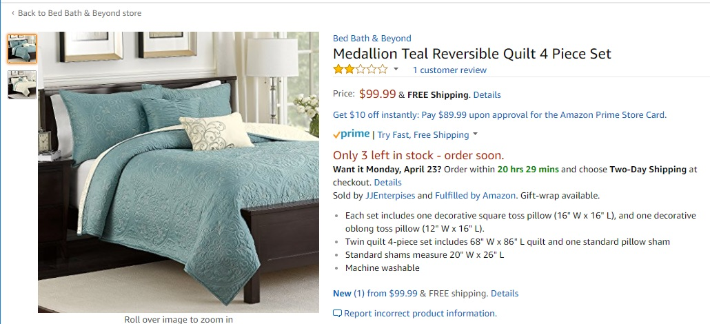 Wonderful Why Doesnu0027t Bed Bath U0026 Beyond Have Presence On Amazon Or Does It? If It  Does, It Is Hidden.