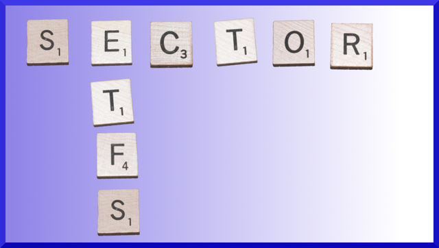Sector ETF Scrabble Image