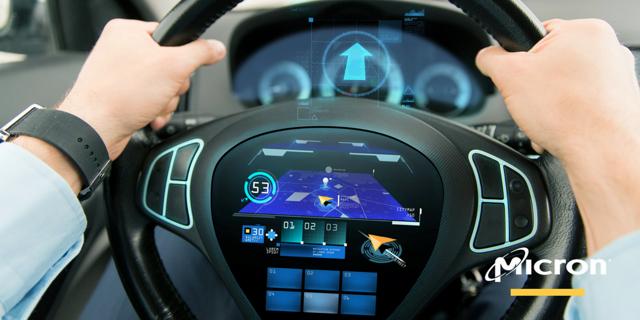 Micron steering wheel.