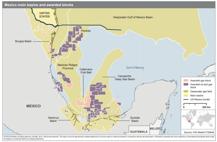 Mapping Out Mexicos Conventional Gas Potential Seeking Alpha - Us-oil-fields-map