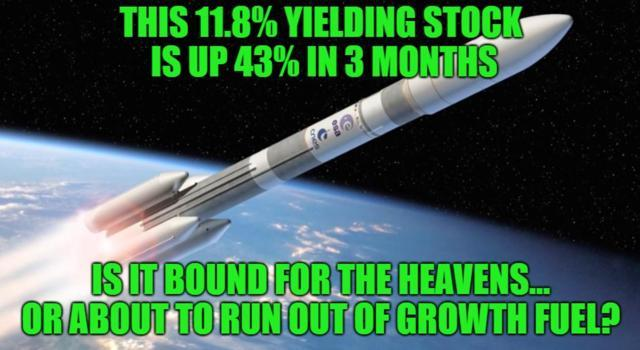 This 11.8% Yielding Stock Is Up 43% In 3 Months But Could Soar Even More