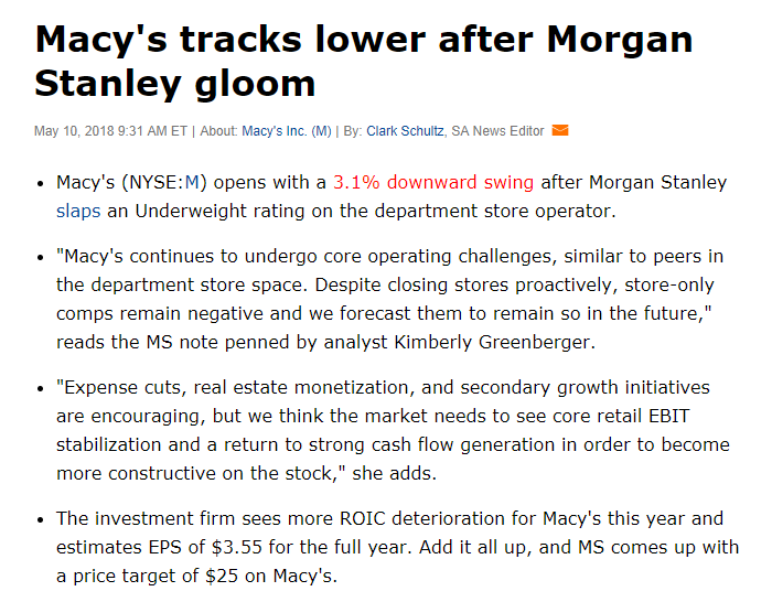Macys Shows Up The Shorts Macys Inc Nysem Seeking Alpha