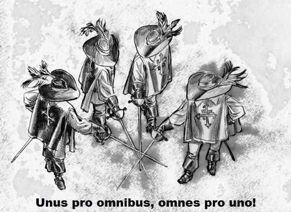 Image result for Unus pro omnibus, omnes pro uno