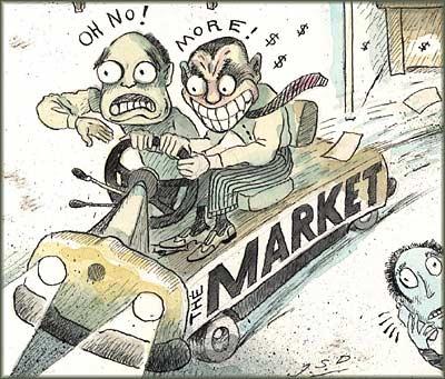 Market Fear/Greed Cartoon