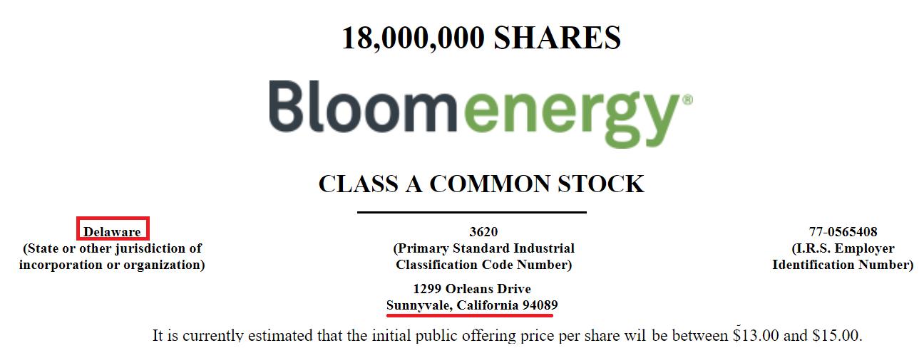 Bloom energy ipo price