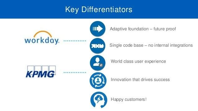 Workday differentiators