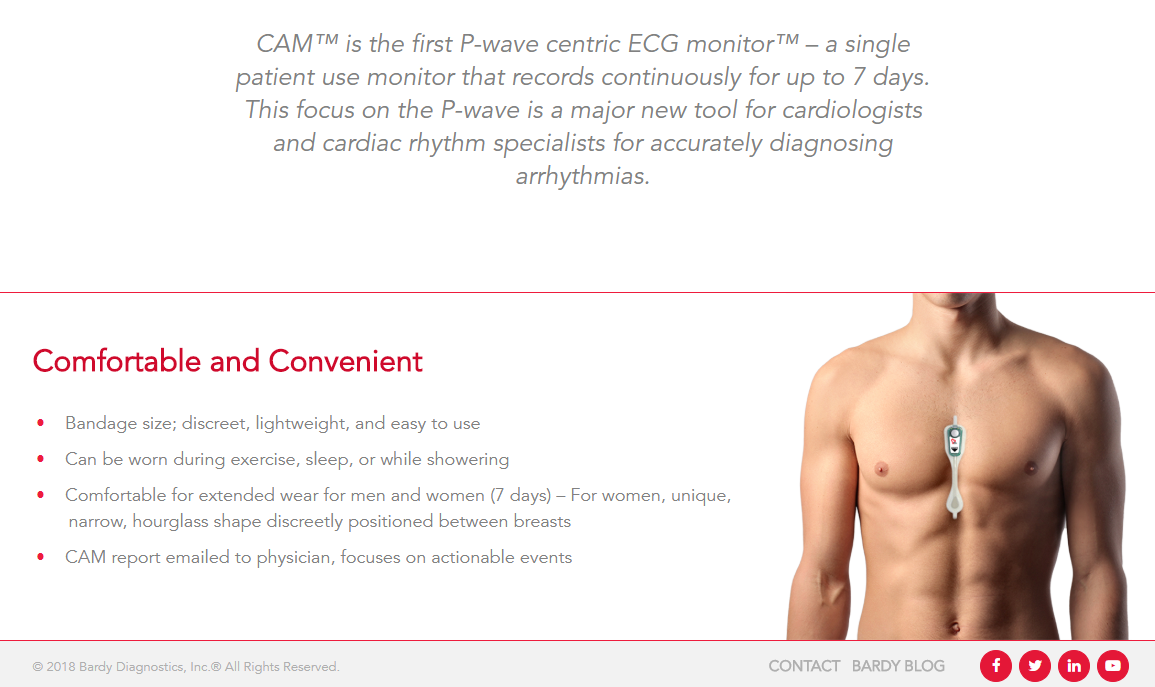 Wearable mhealth device detects abnormal heart rhythms earlier.