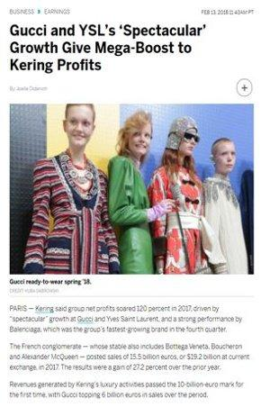Gucci and YSL record growth