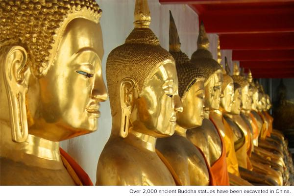 Over 2,000 ancient Buddha statues have been excavated in China