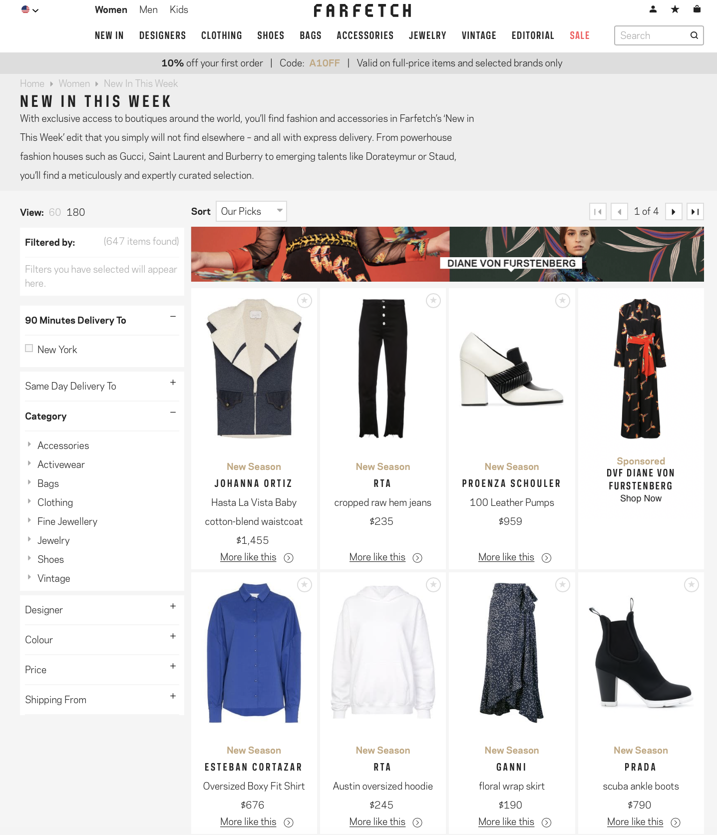 5061b5fa2cda Brands represented on Farfetch's platform include well-known names such as  Gucci and Prada, but also extend to more niche high-end designers and  labels.