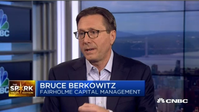 Bruce Berkowitz, portfolio manager of Fairholme Fund, suffering from underperformance for several years now