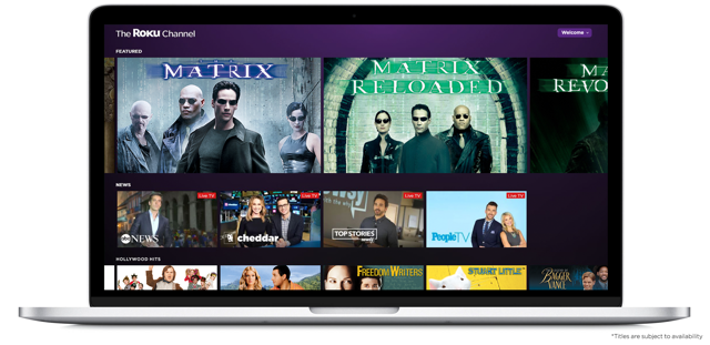 The company today is launching The Roku Channel for the Web in the U.S., giving free access to anyone via PCs, mobile phones and tablets. Consumers can visit TheRokuChannel.com
