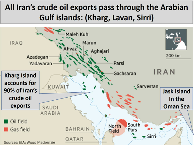 Iran onshore and offshore fields