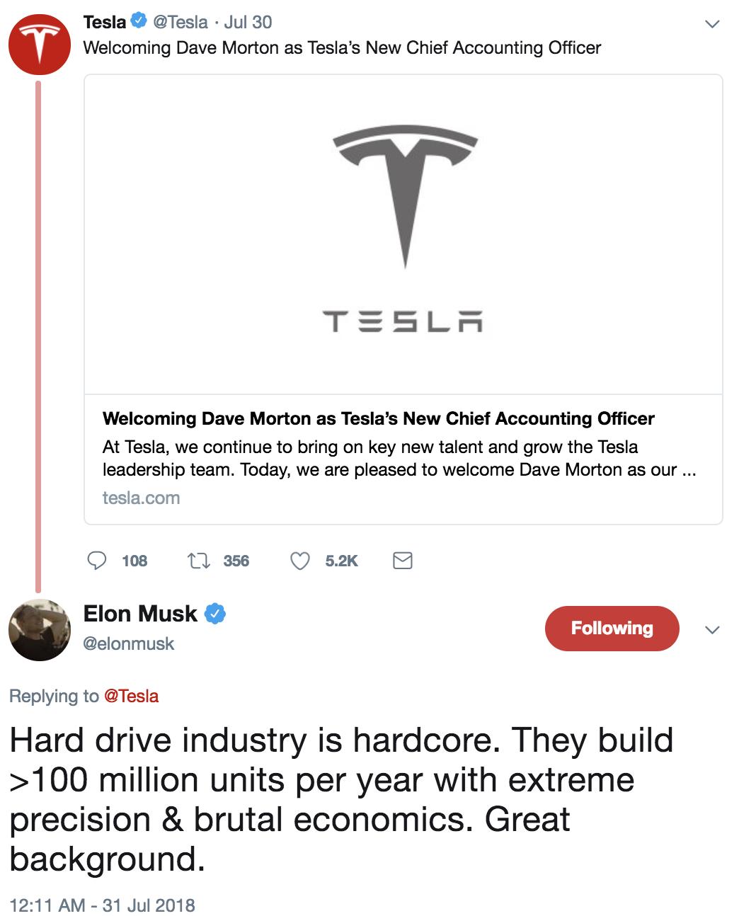 Tesla's Finance And Accounting Executive Exodus - Tesla, Inc