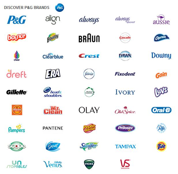 Image result for proctor and gamble brands""
