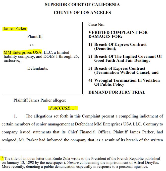 MedMen: J'accuse - From CFO To Plaintiff In 85 Days - MedMen