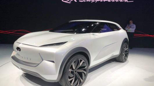 The Infiniti QX Inspiration at the 2019 North American International Auto Show in Detroit on Monday, Jan. 14, 2019.