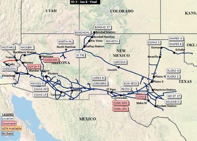 Kinder Morgan Inc Map Of El Paso Pipeline